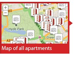 Map of London Serviced Apartments