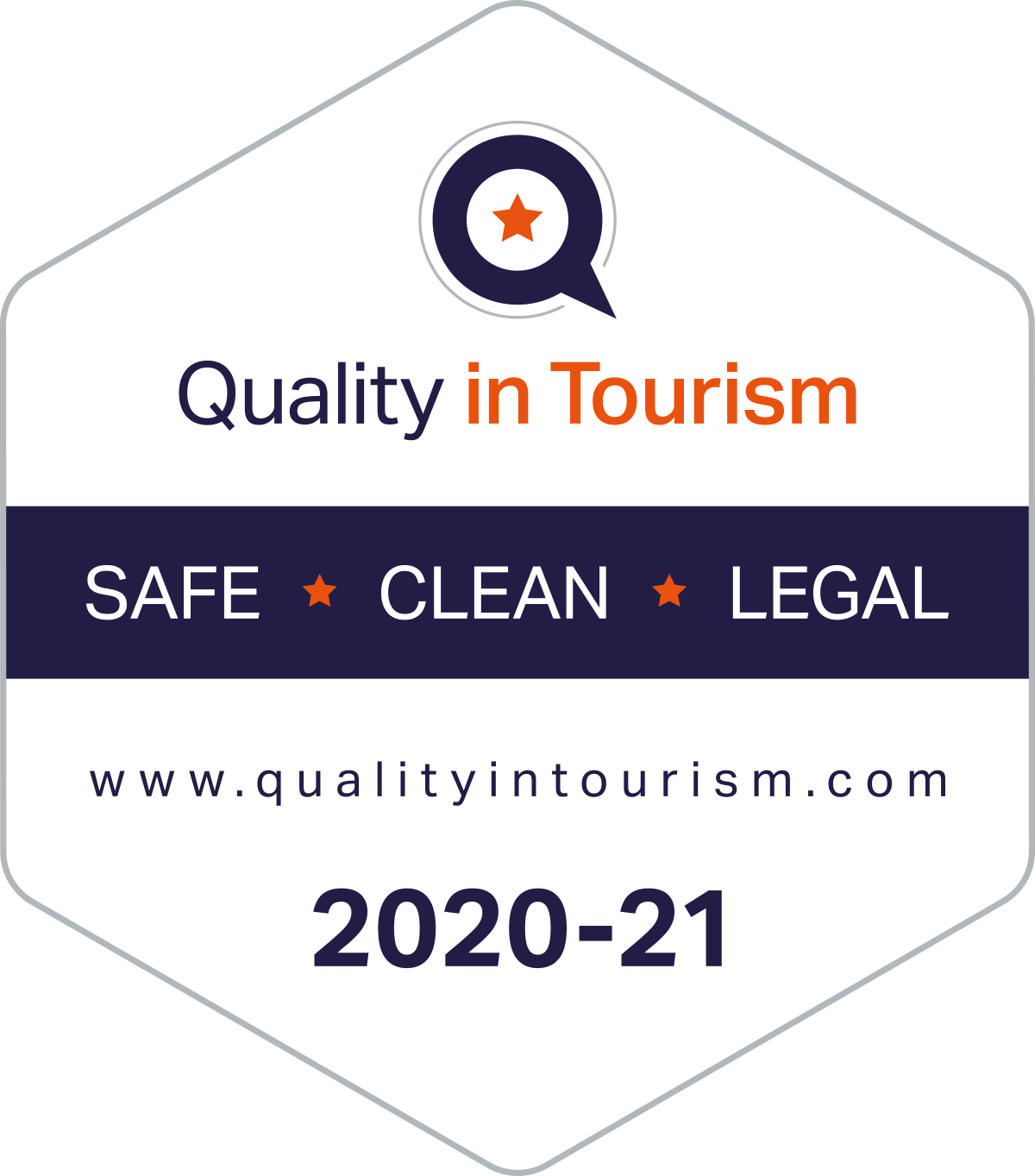 Quality in Tourism - Safe, Clean and Legal™ assessment